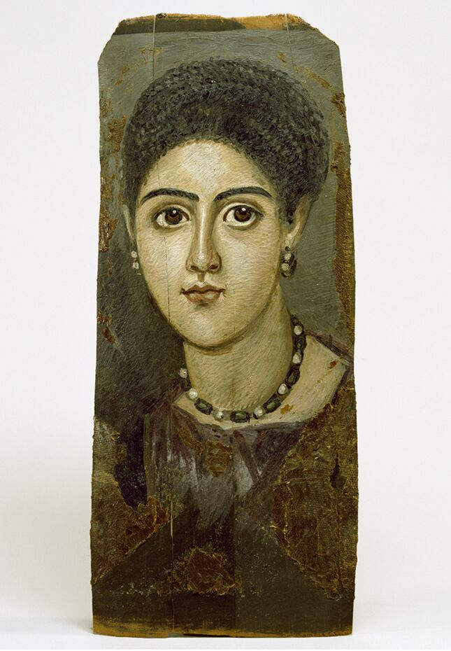 4 Egyptian_-_Female_Portrait_Mask_-_Walters_art gallery