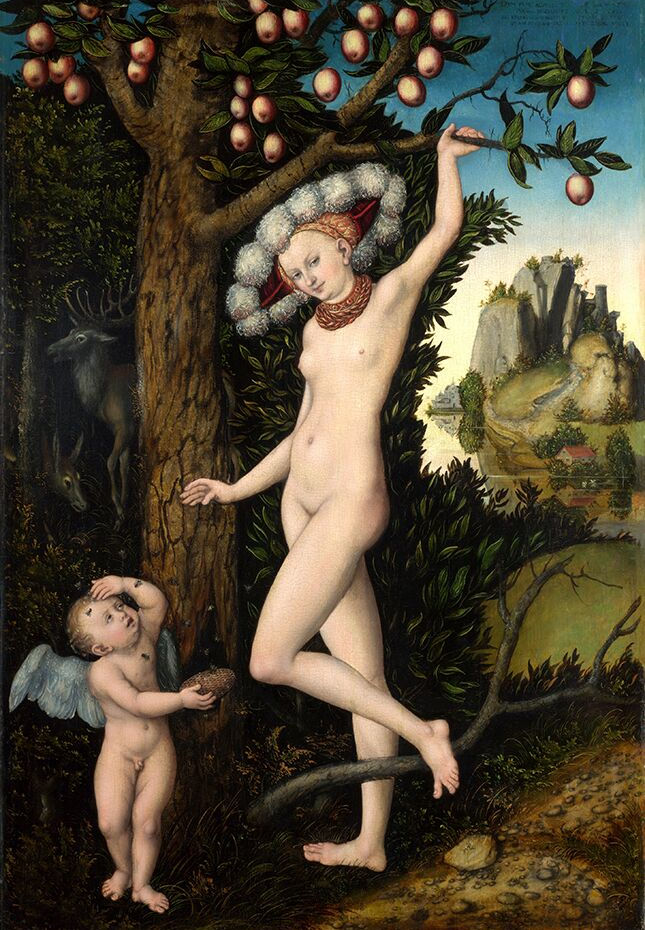 9 Lucas_Cranach_d_A__-_Amor_beklagt_sich_bei_Venus_(National_Gallery_London)