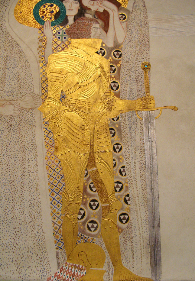 The Golden Knight from the Beethoven Frieze